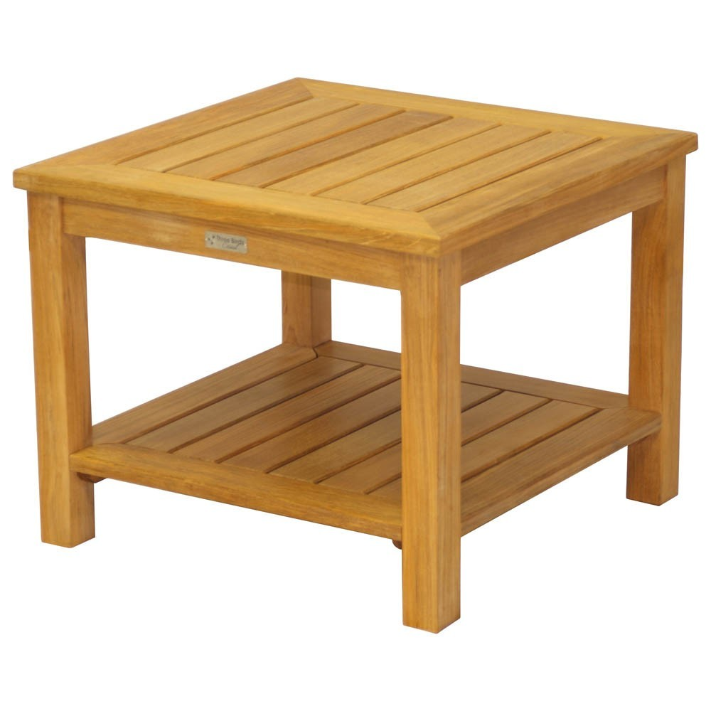 Three Birds Casual Newport Side Table with Lower Shelf